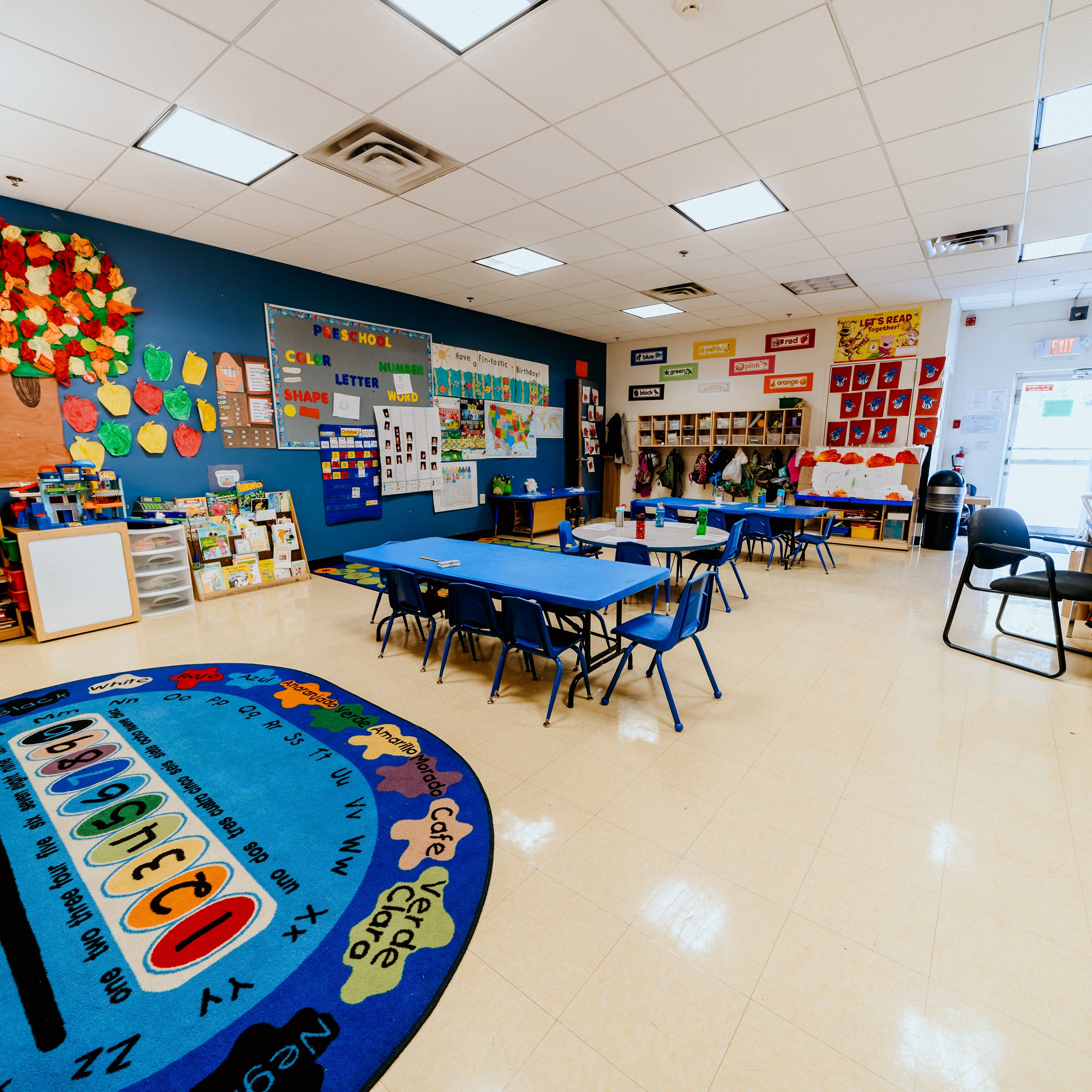 This is a photo of our preschool classroom at Sportsplex